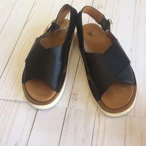 Frye Black Sandals Size 8